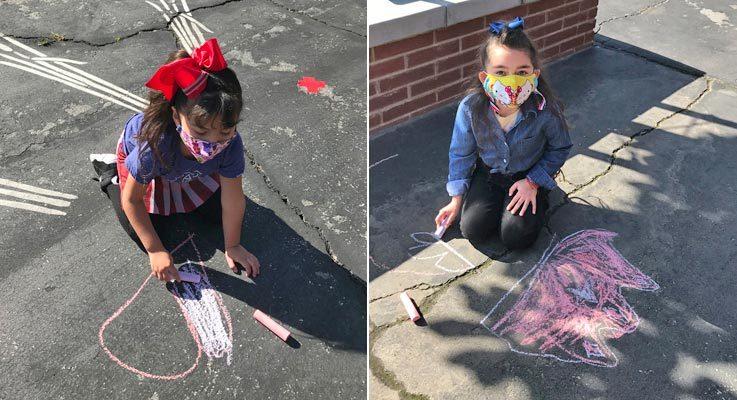 Slider-Chalk Drawings